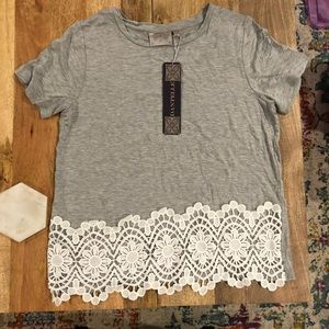 Dantelle Grey Top with Lace Detail